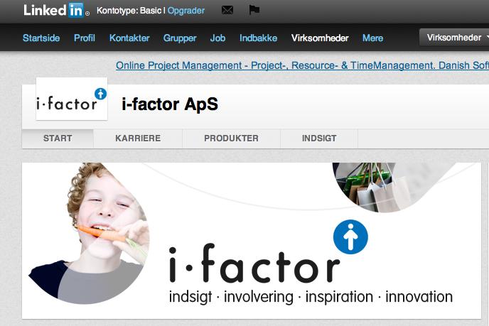 i-factor på Linkedin